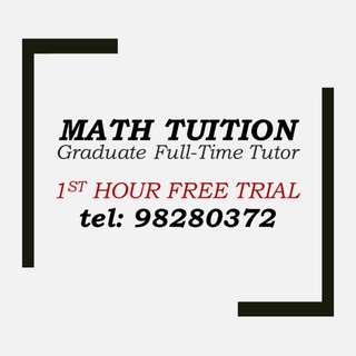 Math Tuition for Secondary, JC, IB, IGCSE (Jurong, Bishan etc)