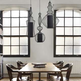 MODERN WIRE PENDANT LAMPS  (NEW) SET OF 4