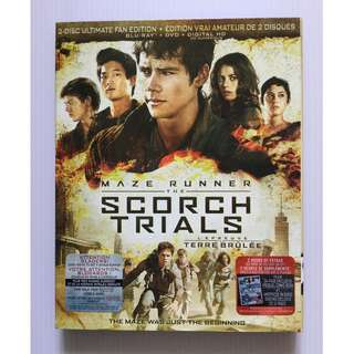 Maze Runner: The Scorch Trials Blu Ray + DVD