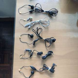 Single head receiver/single earpiece單邊耳機$10/2sets
