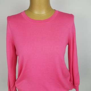 J.CREW  M 100% Wool Pink Clare Pull Over Sweater