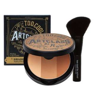 Too Cool for School by Rodin Art Contour Bronzer Set with Brush