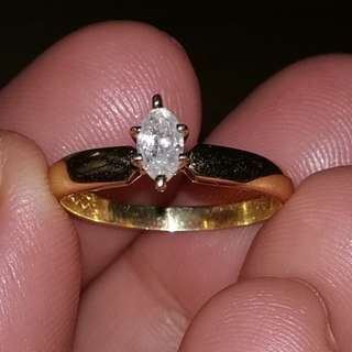 . 23 ct diamond ring size 7 in yellow gold 14k