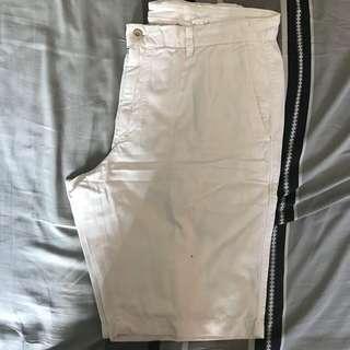 Used Uniqlo Chino Shorts - White