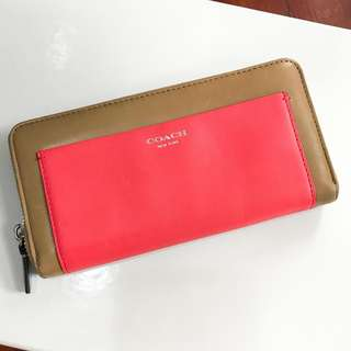 Coach Multi Color Leather Wallet