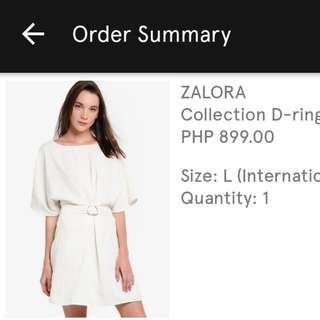 Zalora brand new belted dress