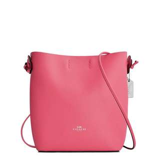MRS COACH DERBY CROSSBODY IN PEBBLE LEATHER F58661 IN STRAWBERRY BRIGHT RED