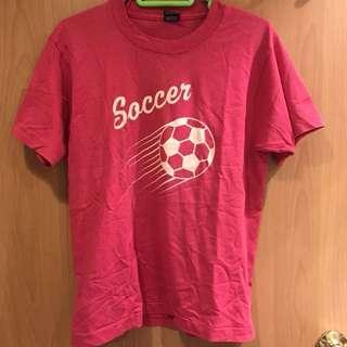 (美國製)美華氏- vintage 桃紅色tshirt