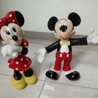 Disney Figurines Porcelain Mickey & Mini