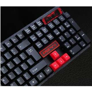 Red WASD Keycaps Mechanical Keyboard for Gaming