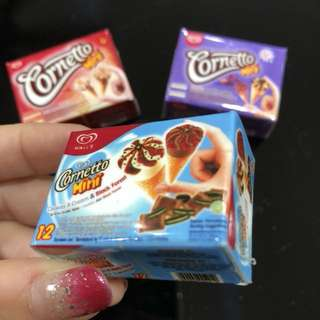 3D Realistic Miniature Magnet - Cornetto Mini Cookies & Cream & Black Forest