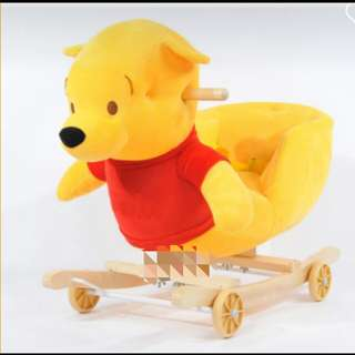 *FREE DELIVERY to WM only / Ready stock*  Disney Pooh animal rocker/push car/walker 2 in 1 function with music with safety belt as shown design/color. Free delivery is applied for this item
