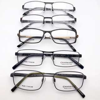 Charmant titanium spectacle frame glasses