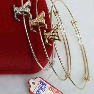 18K Saudi gold pawnable bangle  100% solid gold
