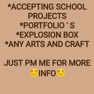 ACCEPTING SCHOOL PROJECTS
