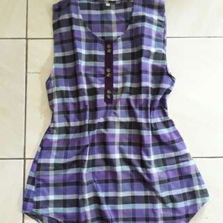 Dress mini kotak kotak