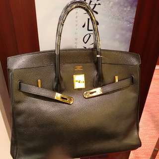 Hermes birkin 35 in black