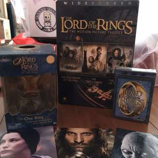 LOTR DVD, Collectible Ring, Playing Cards, Postcards