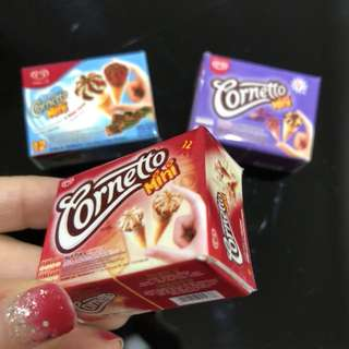 3D Realistic Miniature Magnet - Cornetto Mini Milk Tea & Vanilla