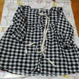 棉麻長版衣