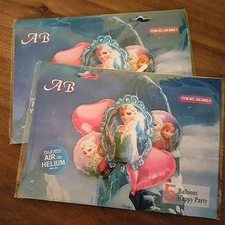 5 pcs Frozen Foil Balloons