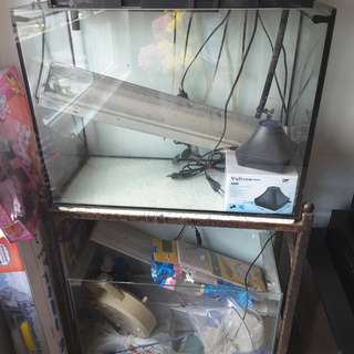 2 set of 2ft Fish tank set ( full axcessories ) with metal stand