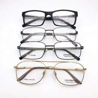 Charmant pure titanium spectacle frames glasses 眼鏡