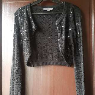 Forever 21 sequined bolero preloved