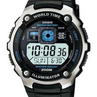 Casio AE-2000W-1AV jam sport pria