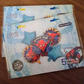 5 pcs Spiderman Foil Balloons