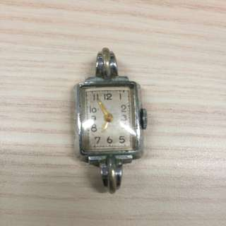 1940s Art Deco Swiss Vintage Stainless Steel Ladies Watch