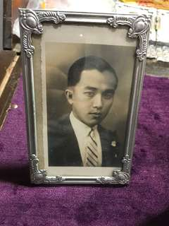 1930s Vintage Peranakan Photos in Standing Frames