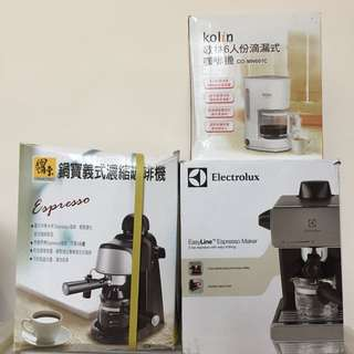 Electrolux伊萊克斯 義式咖啡機EES1504K