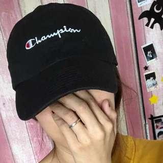 包郵 只此一頂 日男女champio 刺繡全寫logo 鴨嘴帽(可調較大細)