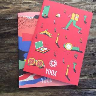 Yoox designer notebook x2 *Brand New*