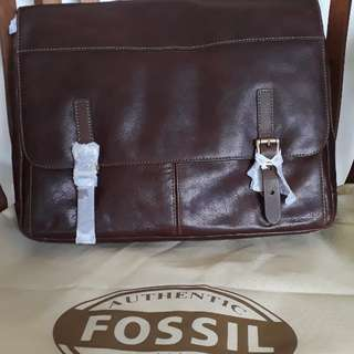 Fossil Deffender Messenger Brown