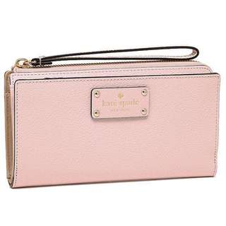 MRS Kate Spade Layton Wellesley Leather Womens Wallet Clutch WLRU1779 Balletslip