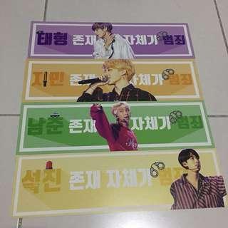 BTS concert handbanners
