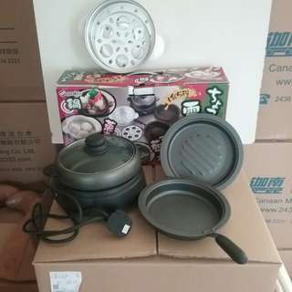 日本山崎1-2人用電鍋煮食具