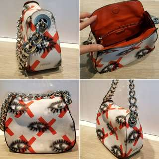 Prada Eye Print Calfskin Chain Bag 皮手袋
