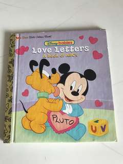 Disney Babies - Love Letters - A Book Of ABC's - A First Little Golden Book