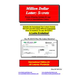 Million-Dollar Lottery Secrets (73 Page eBook)