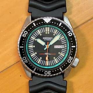 70's SEIKO 七十年代 精工錶 AUTOMATIC 潛水機械自動錶 Water 150m Resist 超罕 湖水綠圈皇冠仔 17石 17Jewels