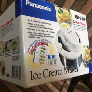 Panasonic Ice Cream Maker