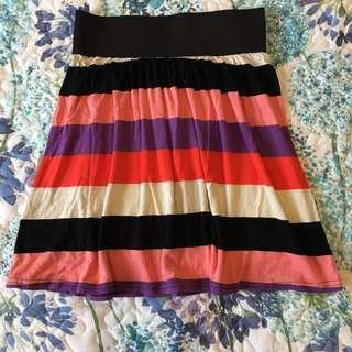 Valleygirl stripe skirt