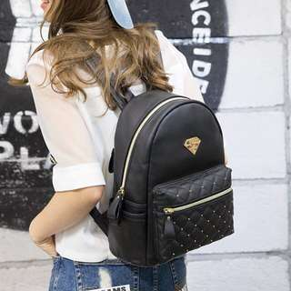 White stud backpack