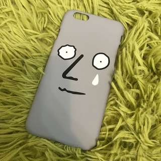 Grey cry face IPhone 6/6s case (soft)