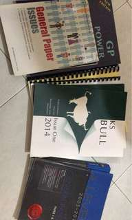 A level GP books & notes