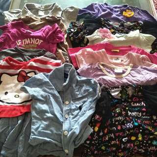 Bundle of baby / Toddler girl tops and dresses