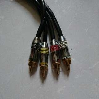 Efx Four Channel RCA cable 6m long